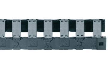 Series E4.21, energy chain with crossbars every link, robust version, openable from both sides