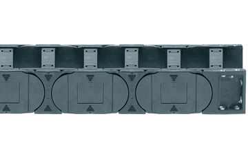 Series E4.28, energy chain with crossbars every link, robust version, openable from both sides