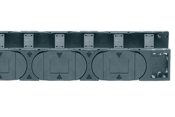 Series E4.42, energy chain with crossbars every link, robust version, openable from both sides
