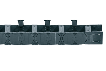 Series E4.48L, energy chain with crossbars every link, crossbars openable from both sides along inner and outer radius