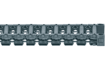 Series E3.10, three-part energy chain, quiet, low vibration, suitable for cleanrooms