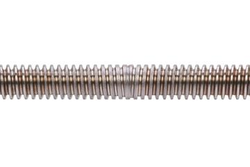 drylin® trapezoidal lead screw, reverse, C15 1.0401 (1015 carbon) steel