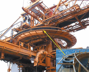 Cable carrier on a bucket-wheel excavator
