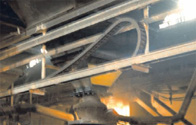 Cable carriers in aluminum plant