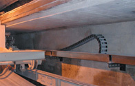 cable carrier for ventilation machine