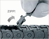 Zipper e-chain