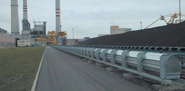 Power plant supply for dredger excavator in a coal dump