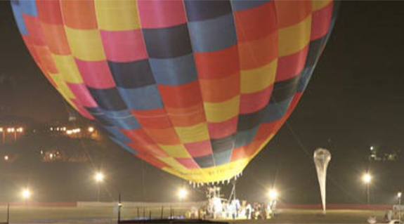 Hot air balloon altitude world record